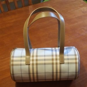 Authentic Burberry Blue Barrel Bag